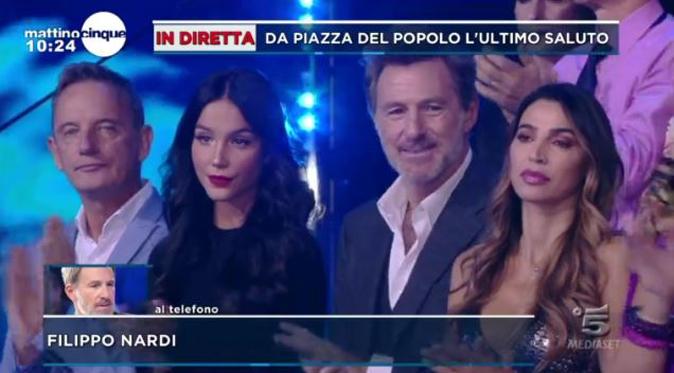 Isola dei Famosi 13, Filippo Nardi ride durante l'applauso a Fabrizio Frizzi: ecco il motivo