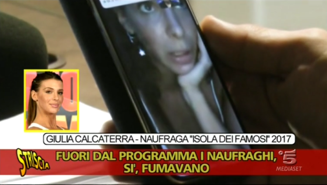 """Giulia Calcaterra a Striscia la Notizia, Video: """"Gioco pilotato, Raz Degan favorito. Fumavano canne anche nel 2017"""""""