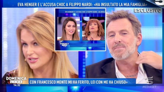 Domenica Live, Filippo Nardi chiede scusa ad Eva Henger: Luxuria mette sotto torchio Cecilia Capriotti
