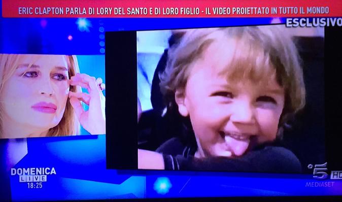 Domenica Live, Lory Del Santo in lacrime: la morte del figlio Conor e la storia con Eric Clapton