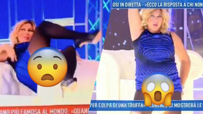 """Nadia Rinaldi """"smutandata"""" a Domenica Live: l'apoteosi del trash dopo l'ipnosi di Giucas Casella"""