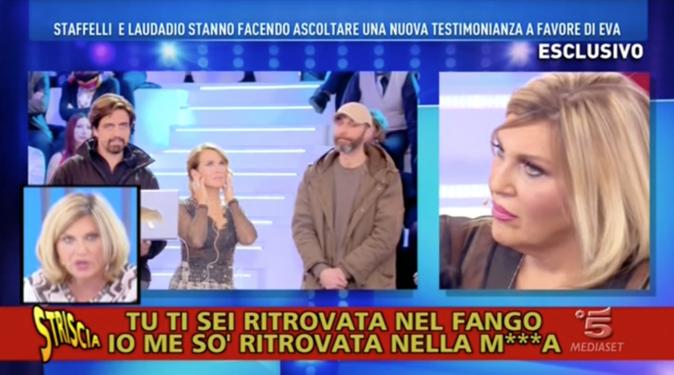 Striscia la Notizia, Nadia Rinaldi: l'audio inedito che dà ragione ad Eva Henger, il canna-gate scotta
