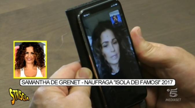 """Samantha De Grenet a Striscia la Notizia: """"Nella mia Isola, droga e alcol, la produzione ha avuto problemi"""" – VIDEO"""