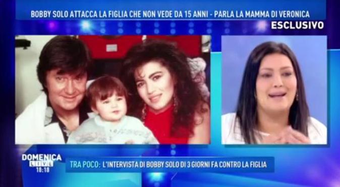 """Domenica Live, la mamma di Veronica Satti dalla d'Urso: """"Bobby Solo? Un uomo cattivo!"""""""
