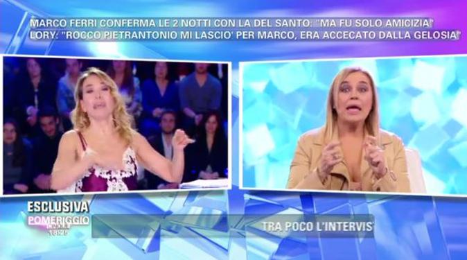 """Pomeriggio 5, Lory Del Santo shock: """"Io e Marco Ferri ci siamo baciati!"""", ecco cosa è successo"""