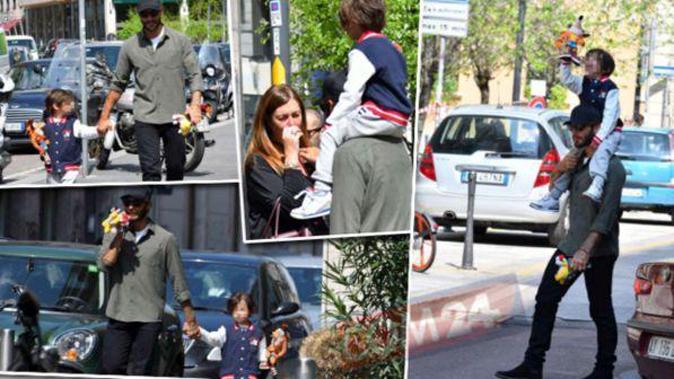 Isola dei Famosi 13, Stefano De Martino torna in Italia e abbraccia Santiago: dolci scatti in giro per Milano