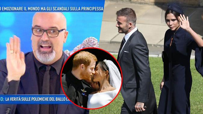 Domenica Live, Giovanni Ciacci parla di Harry e Meghan e la spara grossa su David Beckham e Victoria