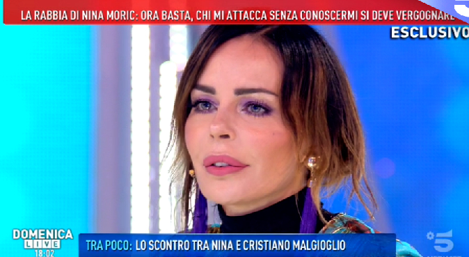 Nina Moric a Domenica Live: dalla storia con Favoloso alla 'guerra' con Fabrizio Corona