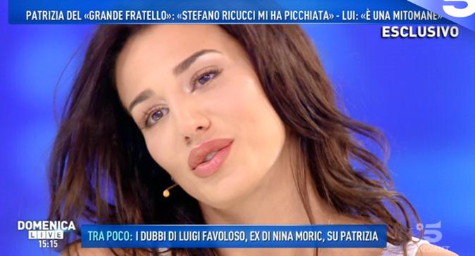 """Domenica Live, Patrizia Bonetti parla di Ricucci: """"Ho le prove delle aggressioni"""" e su Favoloso dice che…"""