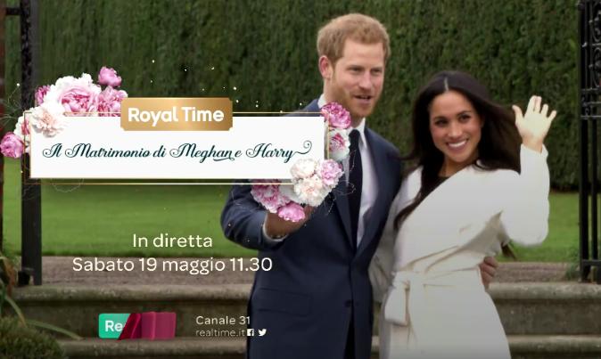 Royal time: il matrimonio di Meghan e Harry in diretta su Real Time con Katia Follesa, Enzo Miccio e Mara Maionchi