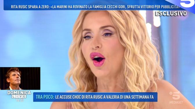 """Domenica Live, Valeria Marini risponde alle accuse di Rita Rusic: """"Solo bugie, io sempre accanto a Vittorio!"""""""