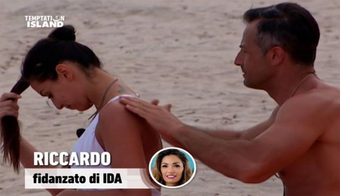 Temptation Island, riassunto seconda puntata: Riccardo chiede il falò di confronto con Ida