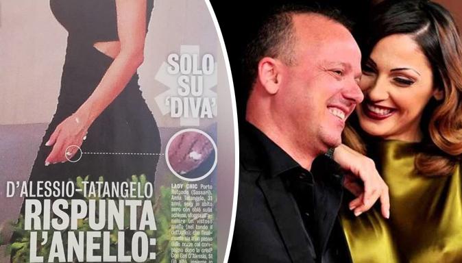 Anna Tatangelo e Gigi D'Alessio, gossip: rispunta l'anello al dito di lei, sono tornati insieme?