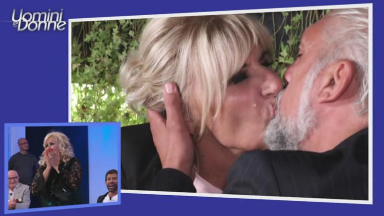 Uomini e Donne Over, Gemma Galgani, bacio con Rocco ma lui se ne va: Ida e Riccardo rompono