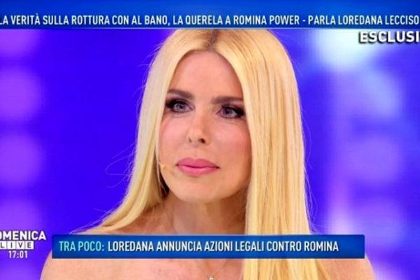 """Loredana Lecciso a Domenica Live: """"Con Al Bano ci siamo chiariti! Mi è capitato d'incontrare Romina…"""""""