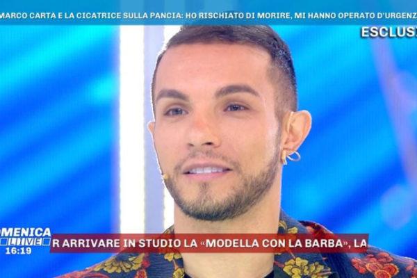 """Marco Carta, racconto shock a Domenica Live: """"Mi hanno preso per i capelli, avevo la diverticolite!"""""""