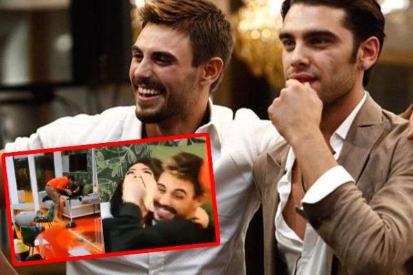 """Grande Fratello Vip, Francesco Monte e Stefano Sala si baciano: """"Ormai dicono che sono gay!"""""""