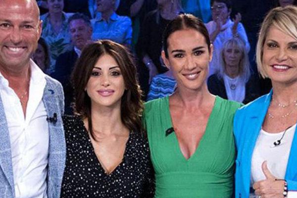 Verissimo, Simona Ventura con Stefano Bettarini e Nicoletta Larini: confessioni dopo Temptation