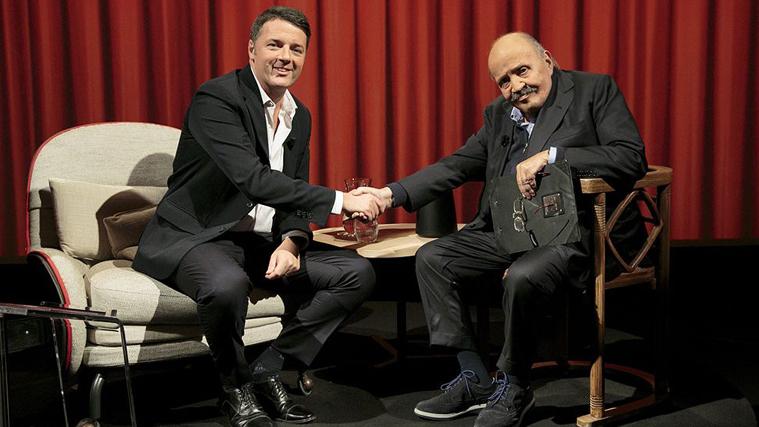 """L'intervista, Matteo Renzi: """"Salvini e Di Maio? Pronto al confronto pubblico!"""", su Canale 5 con Costanzo"""