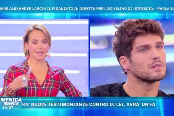 """Domenica Live, Elia Fongaro su Jane Alexander: """"La sto aspettando ma la situazione è delicata!"""""""