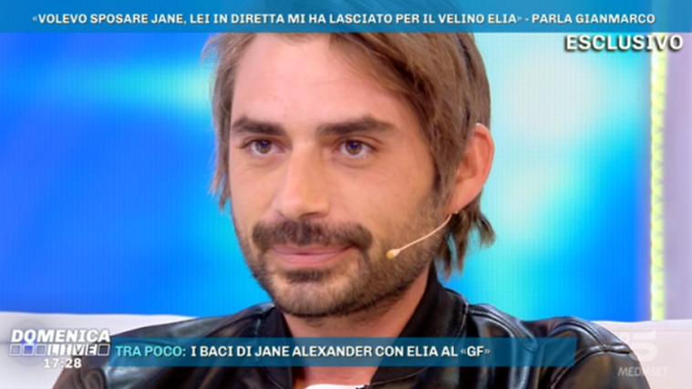 Domenica Live, Gianmarco Amicarelli parla di Jane Alexander: e su Elia Fongaro dice che…