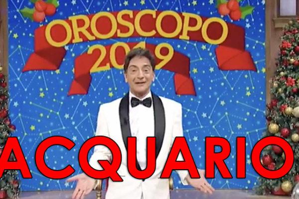 Oroscopo 2019 Paolo Fox, Acquario: previsioni e grafico mese per mese
