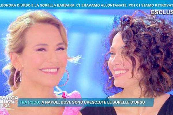 Barbara d'Urso intervista la sorella Eleonora a Domenica Live: anche mamma Wanda in studio