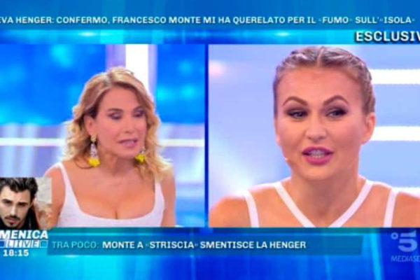 """Domenica Live, Francesco Monte querela Eva Henger: """"Siamo all'inizio, mi sono fatta una risata!"""""""