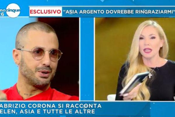 """Fabrizio Corona parla di Belen Rodriguez e Stefano De Martino: """"Se tornano insieme? Sarei felice per loro!"""""""