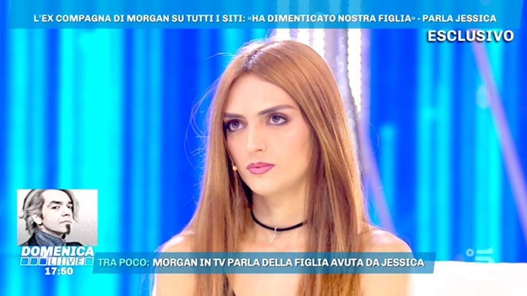 """Jessica Mazzoli a Domenica Live: """"Morgan ha visto sua figlia Lara solo 2 volte… ora basta, tocca a lui!"""""""