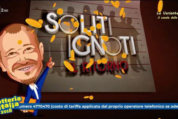 Lotteria Italia 2019, Soliti Ignoti con Amadeus: estrazione biglietti vincenti, Loretta Goggi a Paolo Fox tra gli ospiti