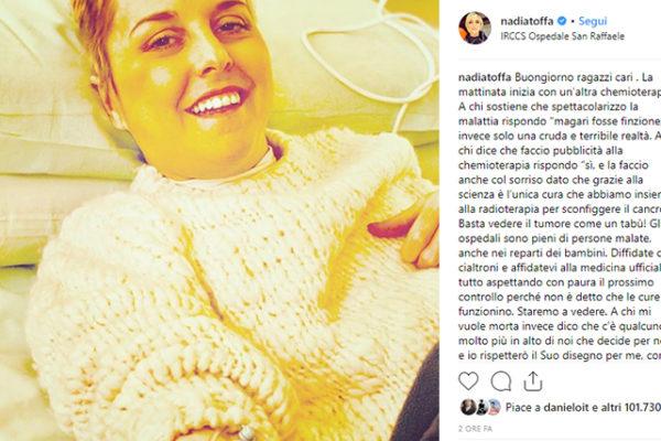 """Nadia Toffa, """"A chi mi vuole morta dico che…"""": commenti shock degli haters, la saggia replica"""