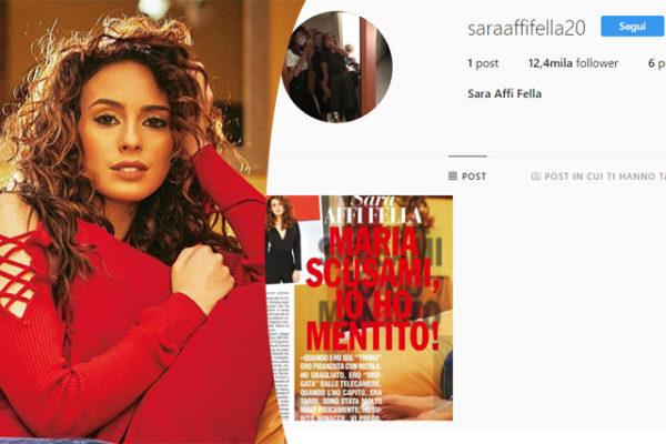 """Sara Affi Fella torna su Instagram, ecco il suo profilo e il primo sfogo: """"Non ammazzatemi!"""" (Foto)"""