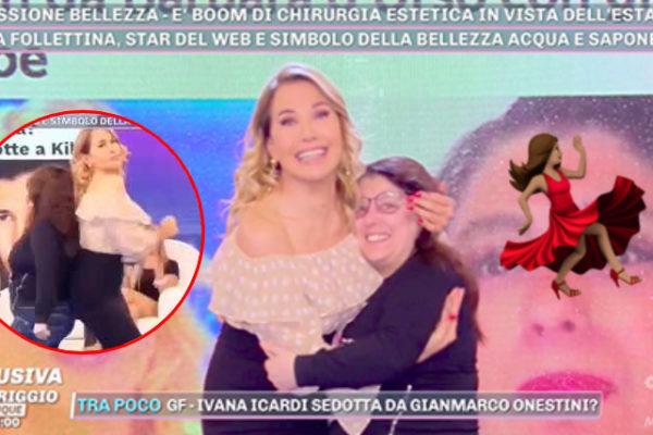 Barbara d'Urso balla con Follettina Creation a Pomeriggio 5: fan in delirio (VIDEO)