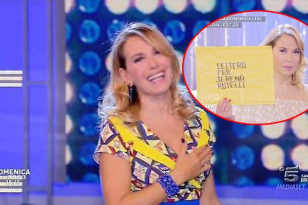 Domenica Live, busta choc per Serena Rutelli: Facchinetti e la moglie da Barbara d'Urso