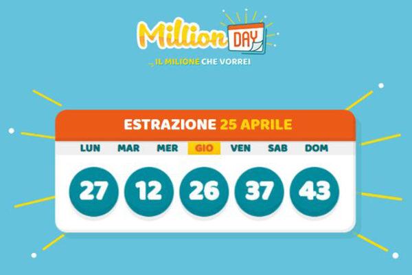 MillionDay, gioca 1 euro e ne vince un milione: i numeri fortunati