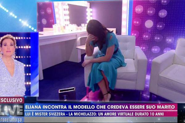 Eliana Michelazzo incontra Simone Coppi: crollo a Live Non è la d'Urso – VIDEO
