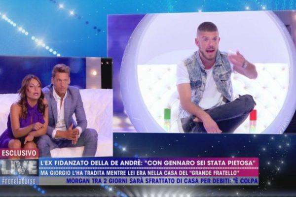 """Francesca De André VS Giorgio Tambellini: """"Vai a farti curare… sei fuori!"""" (VIDEO)"""