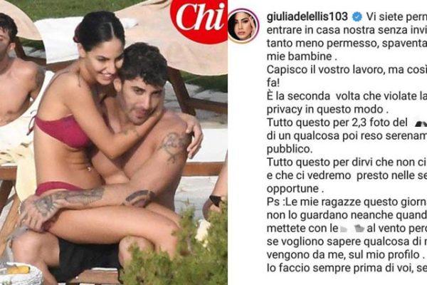 """Giulia De Lellis, bacio con Andrea Iannone: lei contro i paparazzi """"Ci vedremo presto nelle sedi opportune!"""""""
