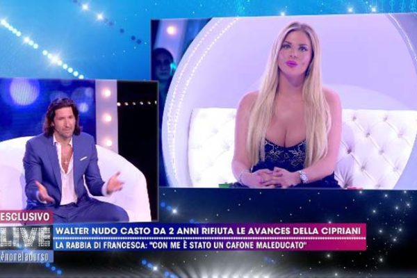 "Walter Nudo gay? Francesca Cipriani lancia la bomba ""Sta con un uomo!"", e lui… VIDEO"
