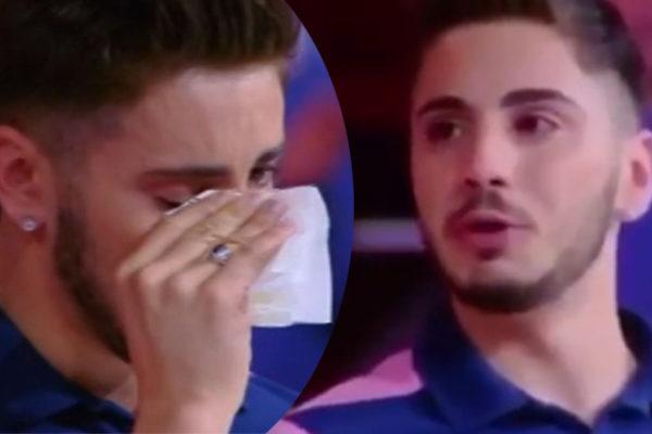 Nicolò Scalfi, Caduta Libera: campioncino è stato eliminato, piange anche Scotti (VIDEO)