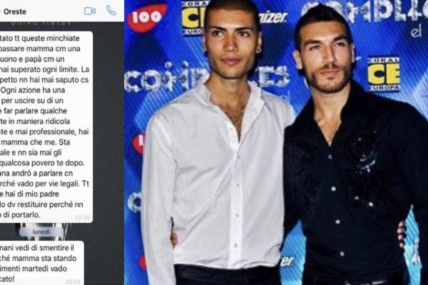 Valerio Pino convinto di essere figlio di Corrado, famiglia lo disconosce: messaggi choc