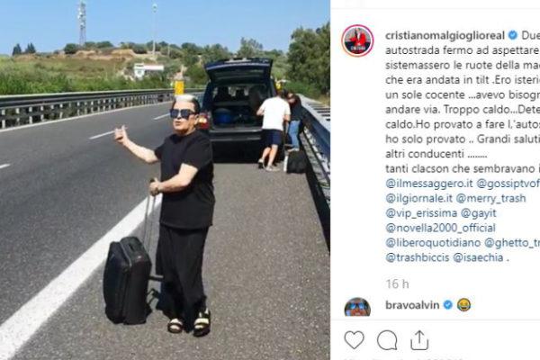 Cristiano Malgioglio fa l'autostop come Loredana Bertè: ecco per quale motivo è accaduto