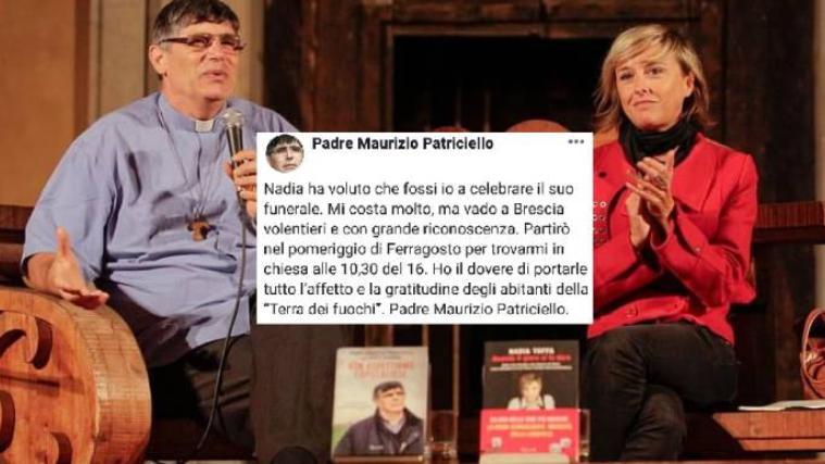 Nadia Toffa, i funerali celebrati da Padre Maurizio Patriciello