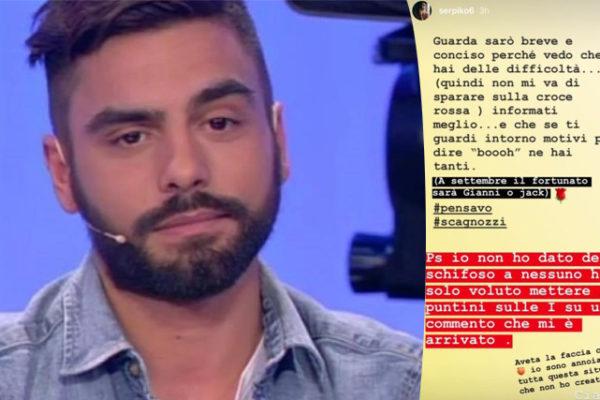 """Uomini e Donne, guerra tra Mario Serpa e la redazione: """"Gianni Sperti e Jack Vanore scagnozzi"""""""