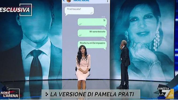 Massimo Giletti ospita Pamela Prati e si scaglia contro Barbara d'Urso